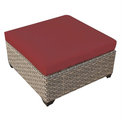 Monterey Ottoman with Cushion Fabric: Terracotta