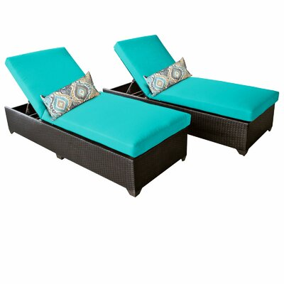 Classic Chaise Lounge with Cushion Fabric: Aruba