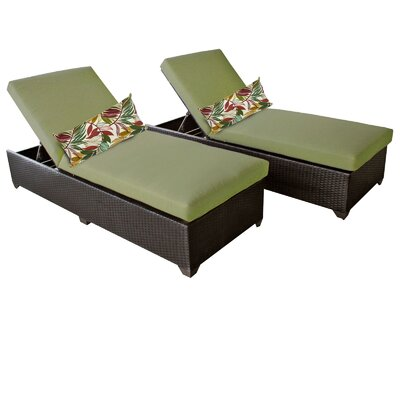 Classic Chaise Lounge with Cushion Fabric: Cilantro