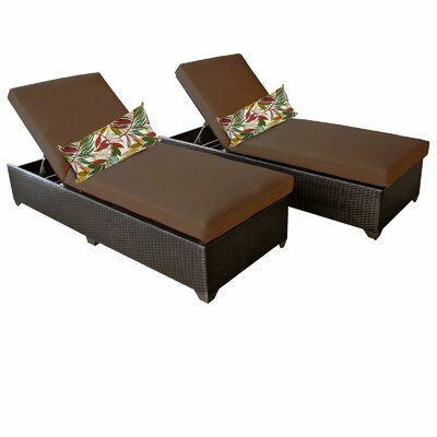 Classic Chaise Lounge with Cushion Fabric: Cocoa