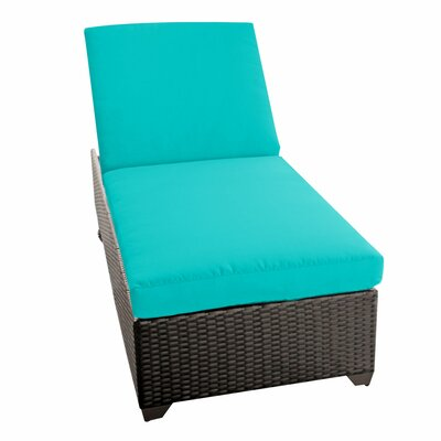 Classic Chaise Lounge with Cushions Fabric: Aruba