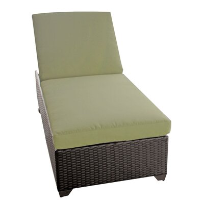 Classic Chaise Lounge with Cushions Fabric: Cilantro