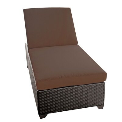 Classic Chaise Lounge with Cushions Fabric: Cocoa