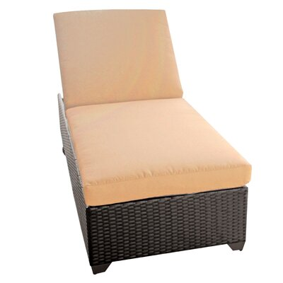 Classic Chaise Lounge with Cushions Fabric: Sesame