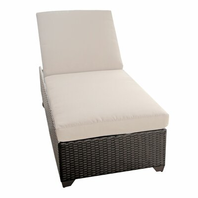 Classic Chaise Lounge with Cushions Fabric: Beige