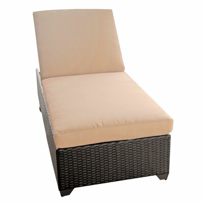 Classic Chaise Lounge with Cushions Fabric: Wheat