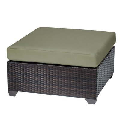 Belle Ottoman with Cushion Fabric: Cilantro