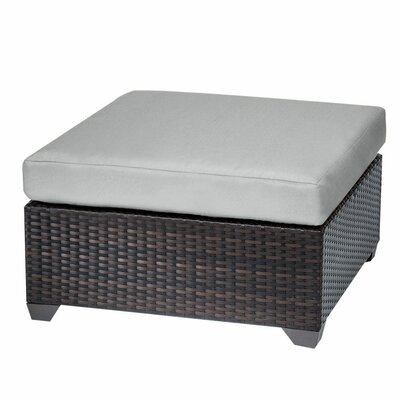 Belle Ottoman with Cushion Fabric: Grey