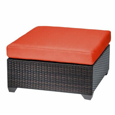 Belle Ottoman with Cushion Fabric: Tangerine