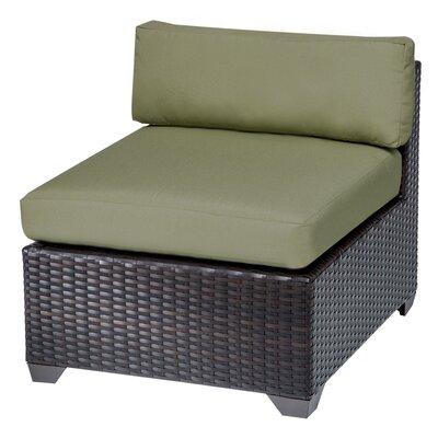 Belle Slipper Chair and Ottoman Fabric: Cilantro