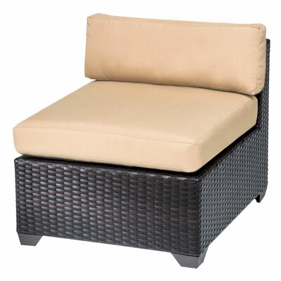 Belle Slipper Chair and Ottoman Fabric: Sesame