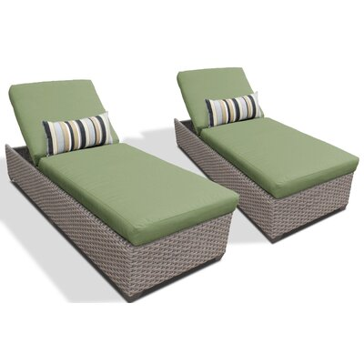 Chaise Lounge with Cushion Fabric: Cilantro