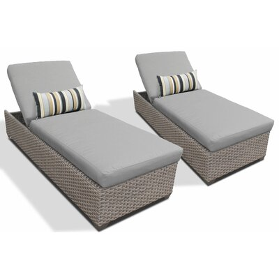 Chaise Lounge with Cushion Fabric: Gray