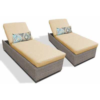 Chaise Lounge with Cushion Fabric: Sesame