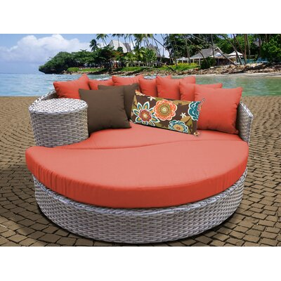 Daybed with Cushions Fabric: Tangerine