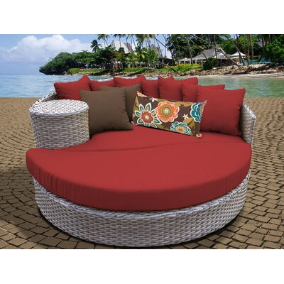 Daybed with Cushions Fabric: Terracotta