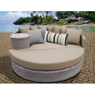 Daybed with Cushions Fabric: Wheat