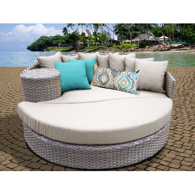 Daybed with Cushions Fabric: Beige