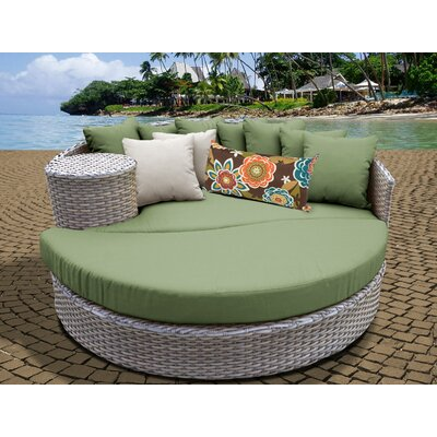 Daybed with Cushions Fabric: Cilantro