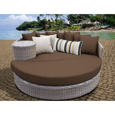 Daybed with Cushions Fabric: Cocoa