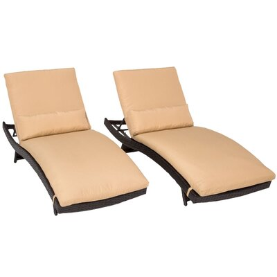 Bali Chaise Lounge with Cushion Fabric: Sesame