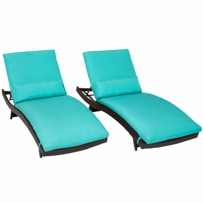 Bali Chaise Lounge with Cushion Fabric: Aruba