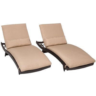 Bali Chaise Lounge with Cushion Fabric: Wheat
