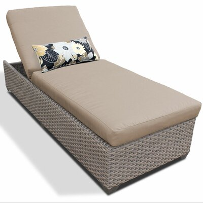 Chaise Lounge with Cushion Fabric: Wheat