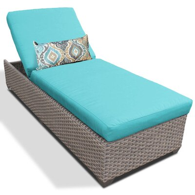Chaise Lounge with Cushion Fabric: Aruba