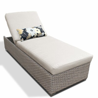 Chaise Lounge with Cushion Fabric: Beige