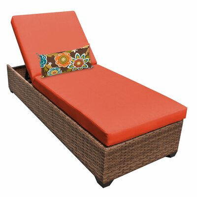 Laguna Chaise Lounge with Cushions Fabric: Tangerine