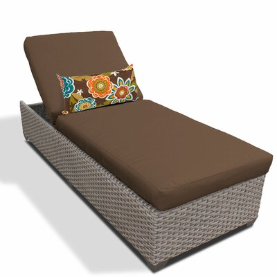 Chaise Lounge with Cushion Fabric: Cocoa