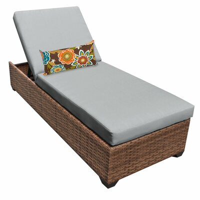 Laguna Chaise Lounge with Cushions Fabric: Gray