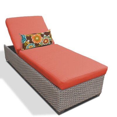 Chaise Lounge with Cushion Fabric: Tangerine