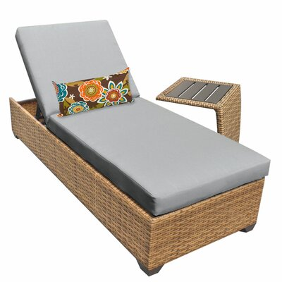 Laguna 2 Piece Chaise Lounge Set with Cushion Fabric: Gray