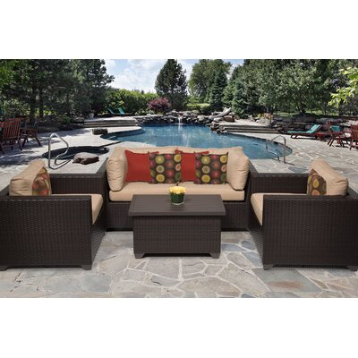 Belle 5 Piece Deep Seating Group with Cushion Fabric: Wheat
