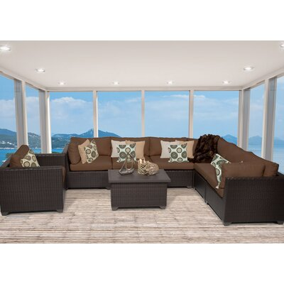 Belle 8 Piece Sectional Seating Group with Cushion Fabric: Cocoa