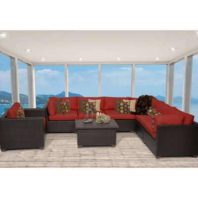 Belle 8 Piece Sectional Seating Group with Cushion Fabric: Terracotta