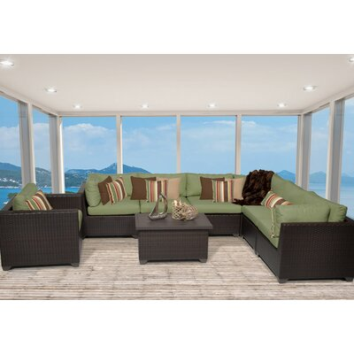 Belle 8 Piece Sectional Seating Group with Cushion Fabric: Cilantro