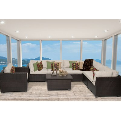 Belle 8 Piece Sectional Seating Group with Cushion Fabric: Beige