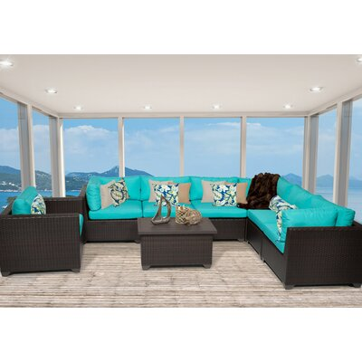 Belle 8 Piece Sectional Seating Group with Cushion Fabric: White