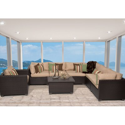 Belle 8 Piece Sectional Seating Group with Cushion Fabric: Wheat