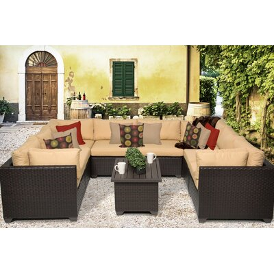 Belle 9 Piece Sectional Seating Group with Cushion Fabric: Sesame