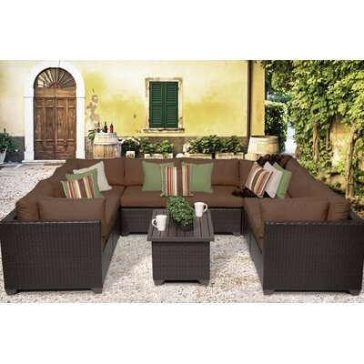 Belle 9 Piece Sectional Seating Group with Cushion Fabric: Cocoa