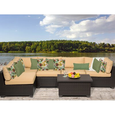 Belle 6 Piece Sectional Seating Group with Cushion