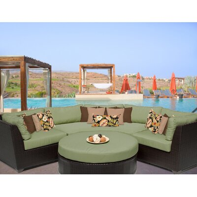 Barbados 4 Piece Sectional Seating Group with Cushion Fabric: Cilantro