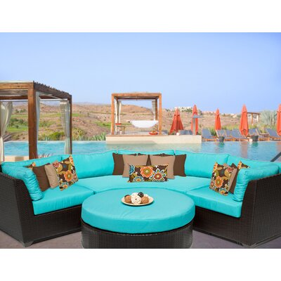 Barbados 4 Piece Sectional Seating Group with Cushion Fabric: Aruba