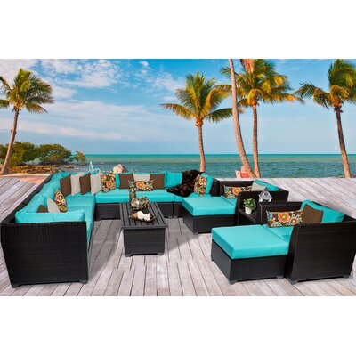 Barbados 13 Piece Sectional Seating Group with Cushion Fabric: Aruba