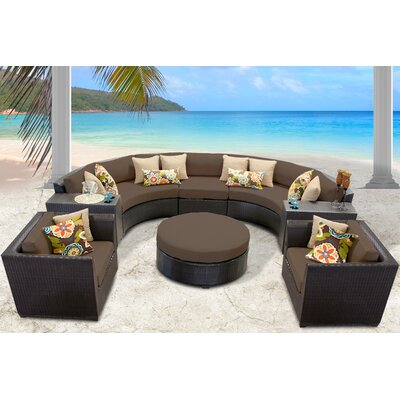 Barbados 8 Piece Sectional Seating Group with Cushion Fabric: Cocoa