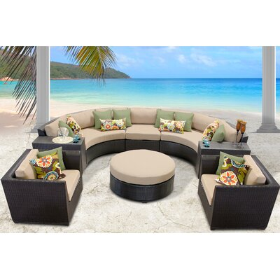 Barbados 8 Piece Sectional Seating Group with Cushion Fabric: Wheat